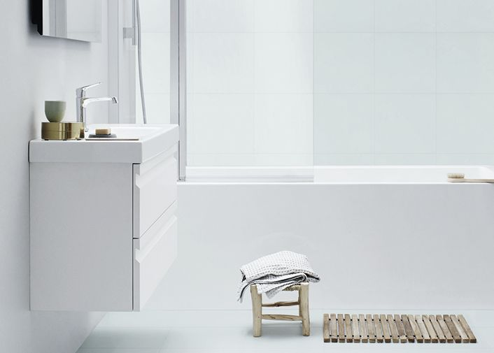 Zaro -kalustesarja sopii hyvin myös pieniin kylpyhuoneisiin.