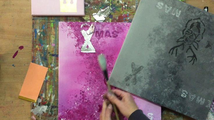 versilbern, aufwerten, Blattmetall, Blattsilber, Acryl Tutorial Painting...