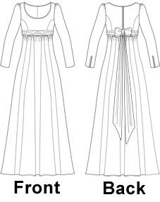 Very pretty! Regency Style Dress Sewing Pattern - Laura Marsh Sewing Patterns