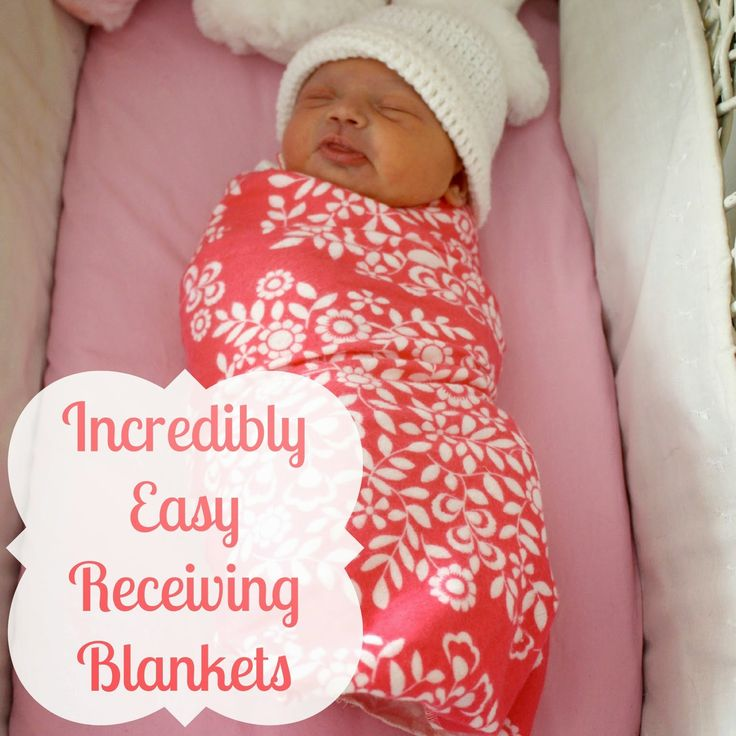Incredibly Easy Receiving Blankets | Oh Sew Crafty Life