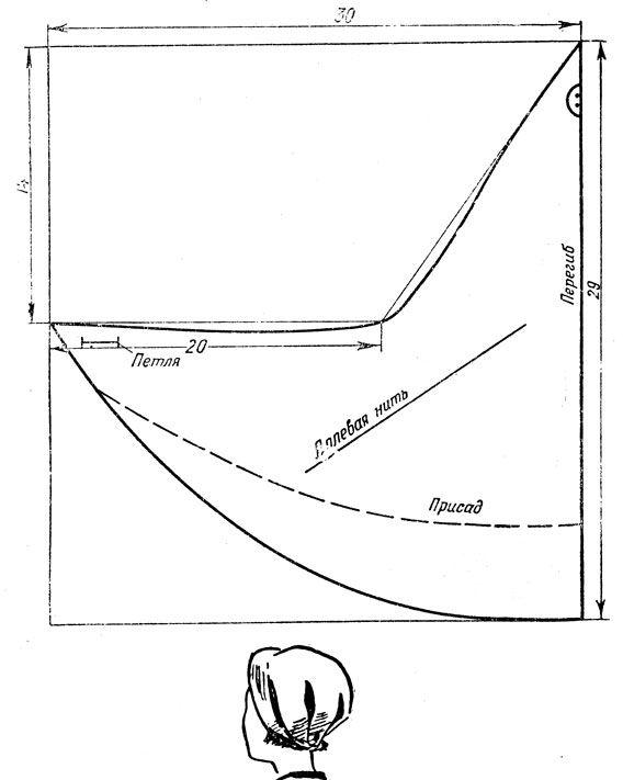 Складная летняя панама от солнца [1962 Слезкина И.К. - Женские головные уборы]