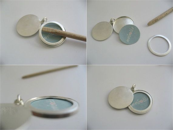 Picture-locket sterling silver Mountain range locket by mabotte
