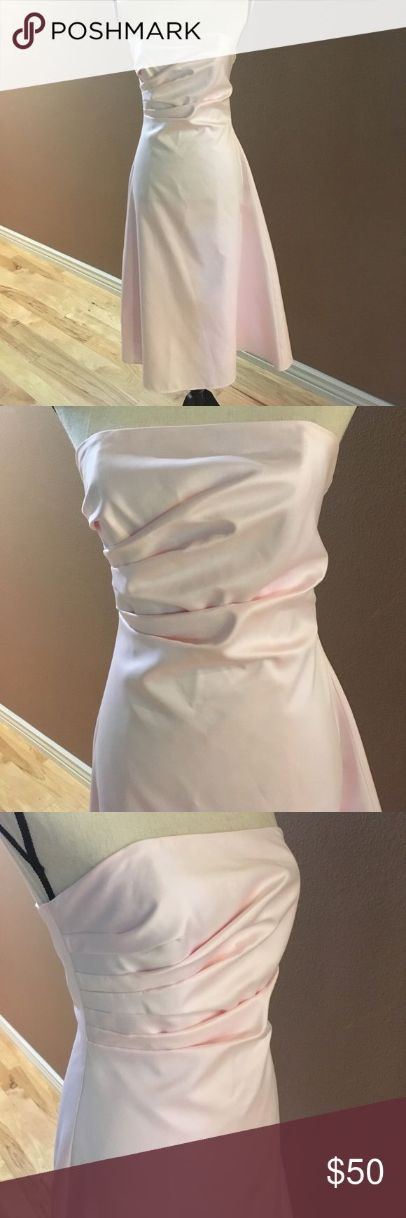 JS Boutique Baby Pink Formal Party Dress EUC Gorgeous formal dress perfect for special occasion : wedding, prom, homecoming, etc.   Stunning in baby pink. Worn one in a wedding. In like new condition. Classic look, beautiful draping at bodice. Very flattering. JS Boutique Dresses Wedding