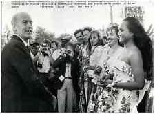 Nouvelle-Calédonie, Prés. Giscard d'Estaing en visite officielle à Nouméa