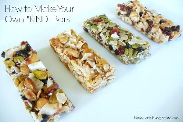 "Homemade ""KIND"" Bar Recipes (GF) - The Nourishing Home"
