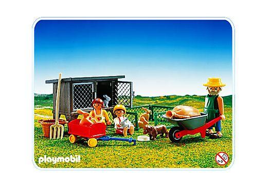 bauernhof hasenstall  playmobil hasenstall ställe