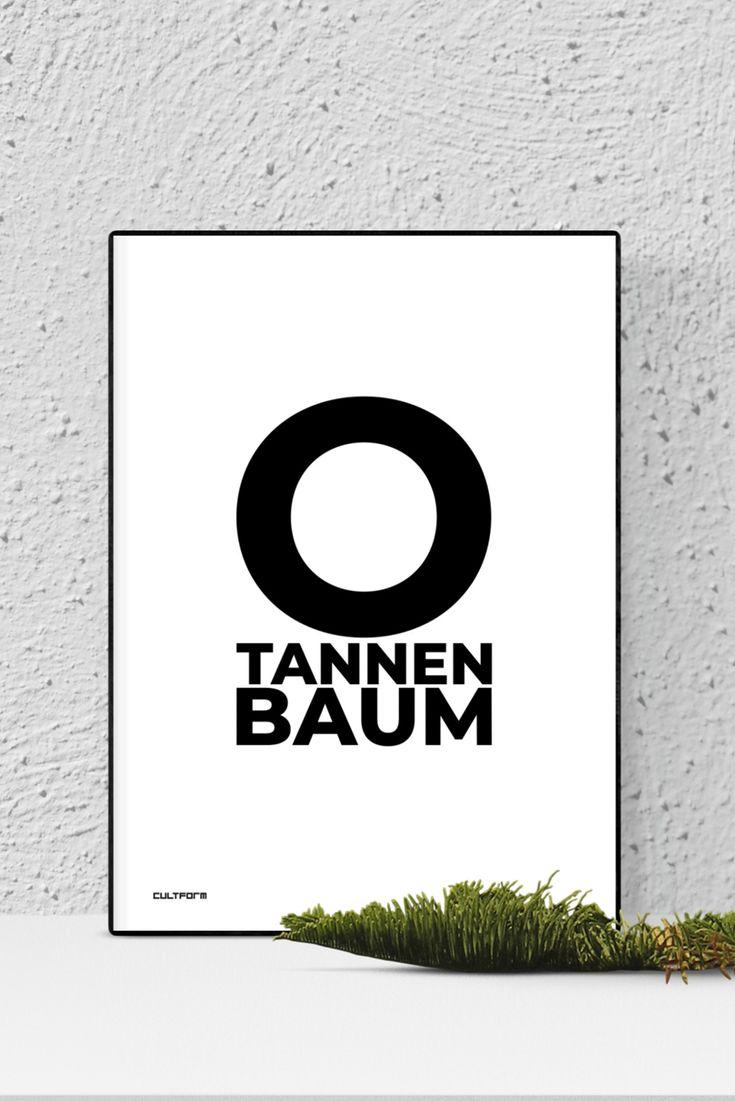 """Poster 60×90 Weihnachtsgrafik """"O Tannenbaum"""""""