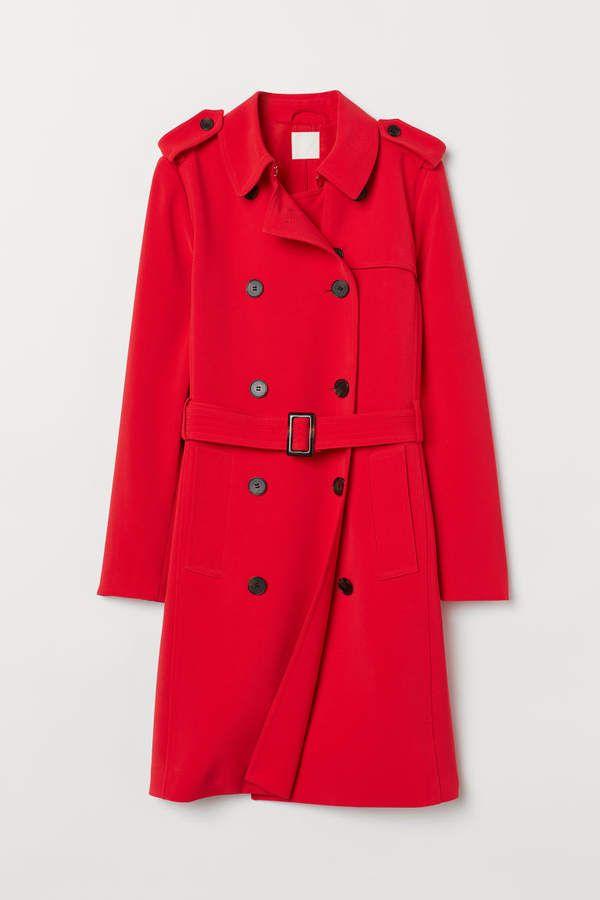 trenchcoat red ladies h m us trenchcoat mantel trenchcoat