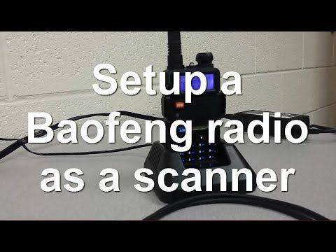 Baofeng UV-5R Programming - setup as a police scanner - YouTube