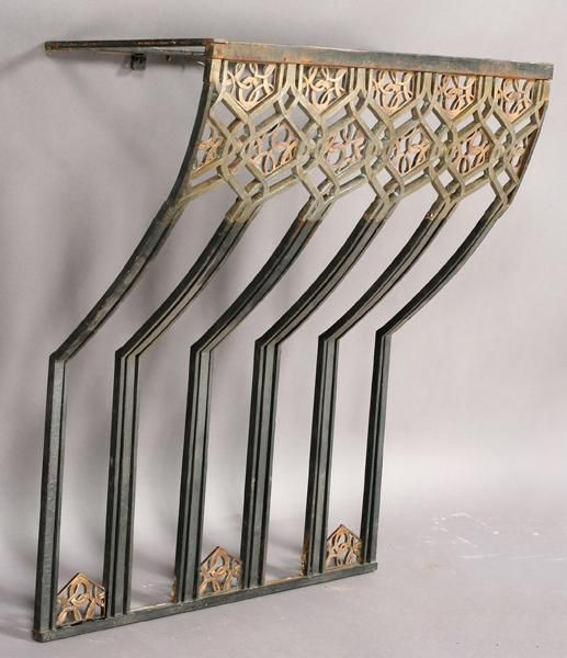 A D Down-swept Bronze & Wrought Iron Console Table, 1920s   /   LA