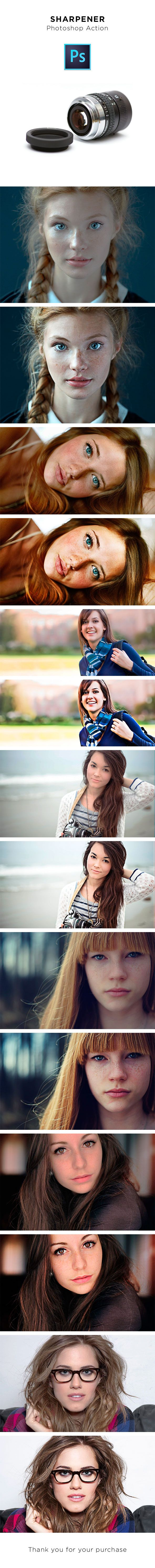 Sharpener Photoshop Action - Photo Effects Actions