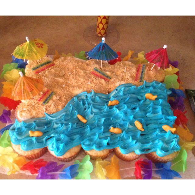 Cute beach theme cake :)