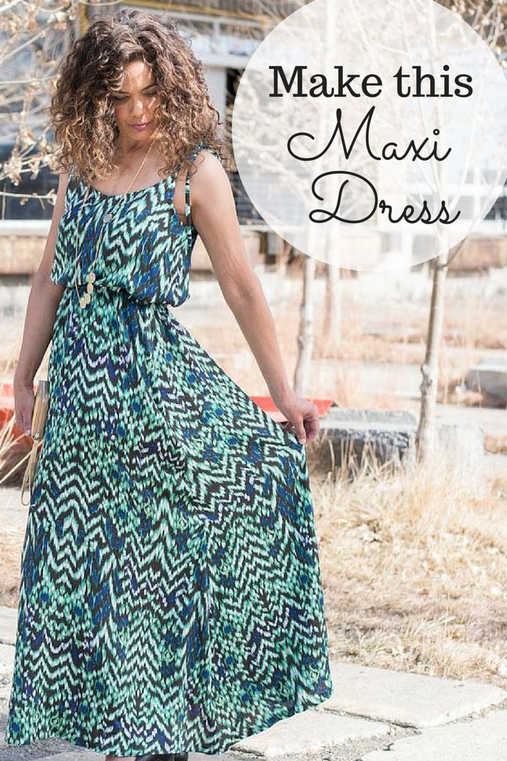 Tired of store-bought clothes not fitting you right? It's time to take matters into your own hands! With the Saltspring Maxi Dress Sewing Kit from Craftsy, you'll receive both the pattern and fabric that you need to bring this stylish maxi dress to life!