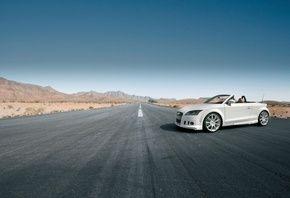 tt, белый, Audi, кабриолет, дорога