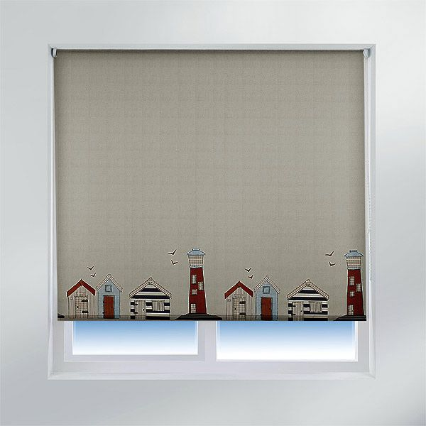 Sunlover Accents Patterned Thermal Roller Blinds Beach