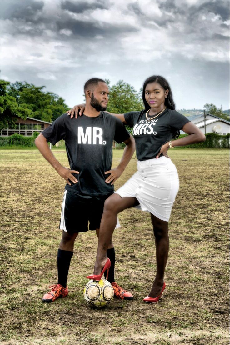 Soccer engagement photos