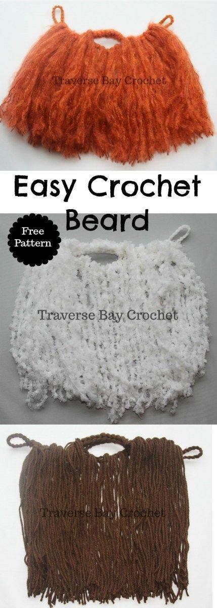 Easy Crochet beard Toddler-Adult
