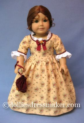 Felicity ~ American Girl Doll--Not this dress Jenna likes, but the work dress on the same page.  Wouldn't let me pin it.