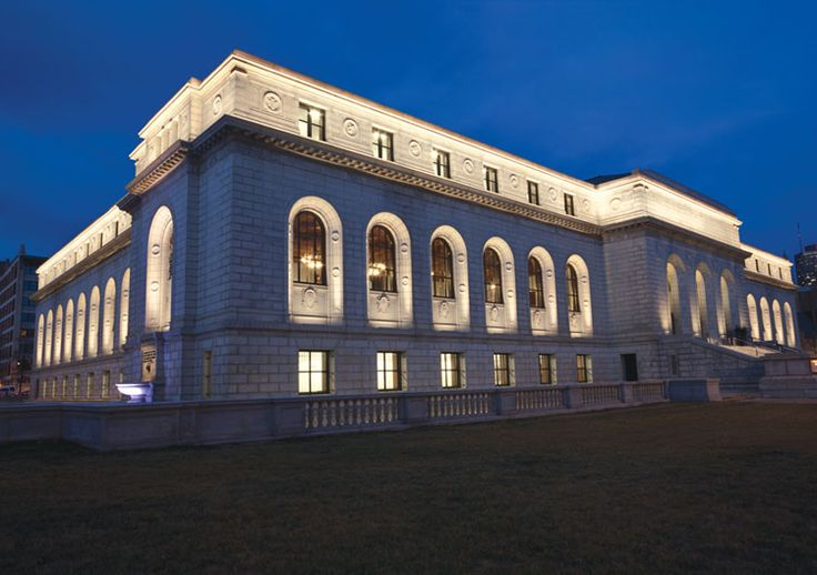Architectural Lighting Design - St. Louis Public Library, St. Louis, Missouri, USA