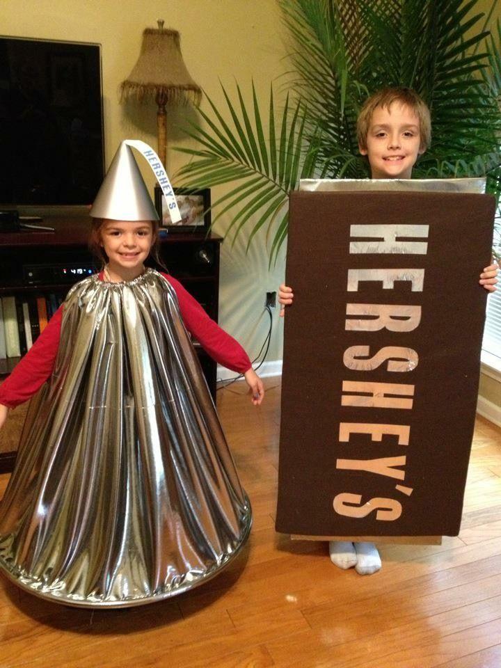 Hershey's Chocolate Bar and Kiss Halloween Costumes