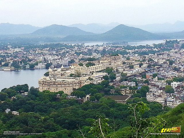 A view of City Palace from atop the Karni Mata temple hill in #Udaipur #Rajasthan #India #Travel #IncredibleIndia #Heritage #Lakes #Palaces