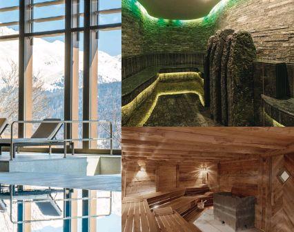 8. Platz Spa im Kulm Hotel, St. Moritz  Zum Dezember 2012 öffnete das Kulm Hotel in St. Moritz die Tore zu seinem neu erbauten Spa-Bereich welcher neben der eindrucksvollen Kombination aus Sauna, Höhensonne und Infinity-Pool mit Gipfelblick, Luxus ohne Abstriche bietet und seine Gäste mit einem ganzheitlichen Behandlungsangebot verwöhnt, das alle Sinne berührt.