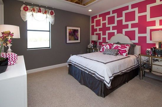 pink and gray teen bedroom grey and pink bedroom themes