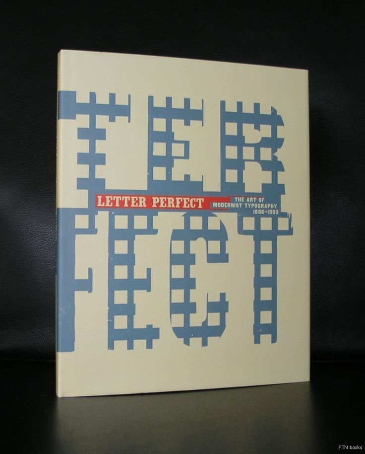 Letter Perfect # THE ART OF MODERNIST TYPOGRAPHY 1896-1953# mint