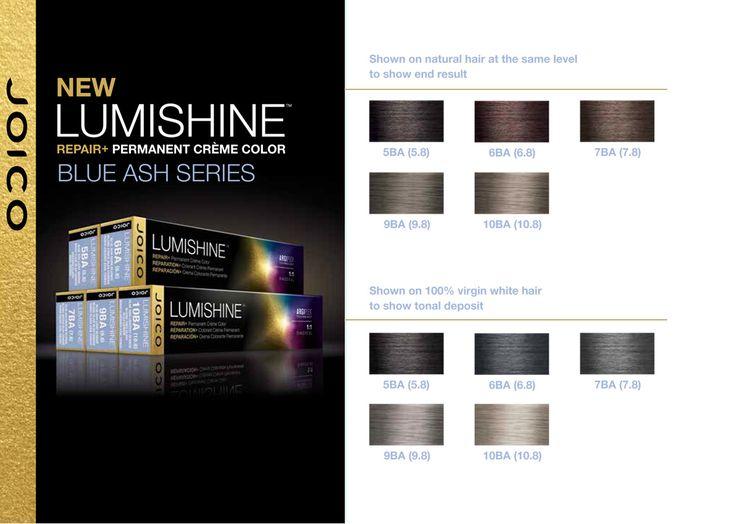 Joico Lumishine Blue Ash Series Color Charts