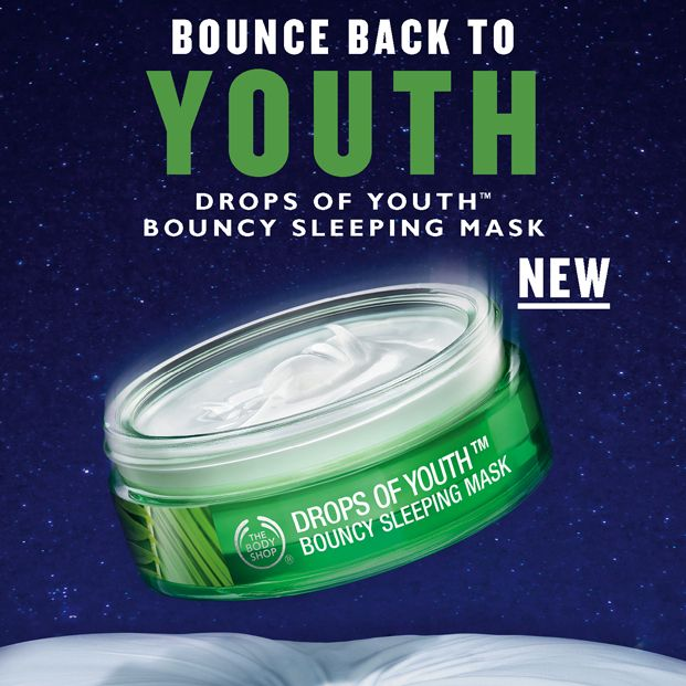 BOUNCE back to YOUTH! Introducing our NEW Drops of Youth Bouncy Sleeping Mask.