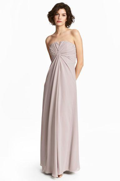 H&M - Draped bandeau dress - Light powder pink