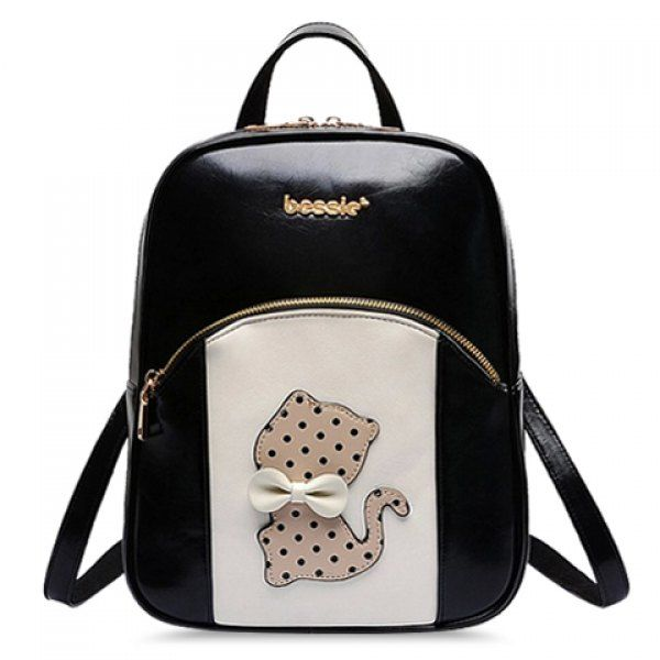 Cute Cartoon and Bow Design Color Matching Satchel For Women #jewelry, #women, #men, #hats, #watches, #belts, #fashion