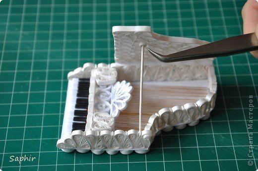 Мастер Класс всё для Дома Мечты - quilled mini piano