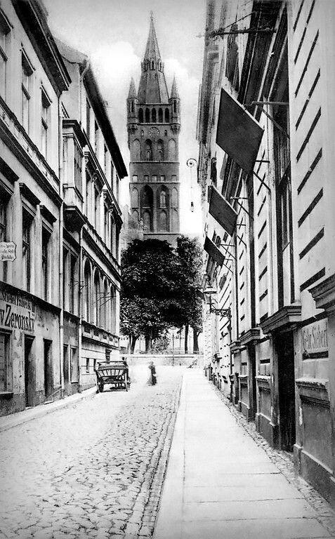 Königsberg Pr. Neue Anlage am Schloß, Südseite/ Altstädtische Bergstraße.