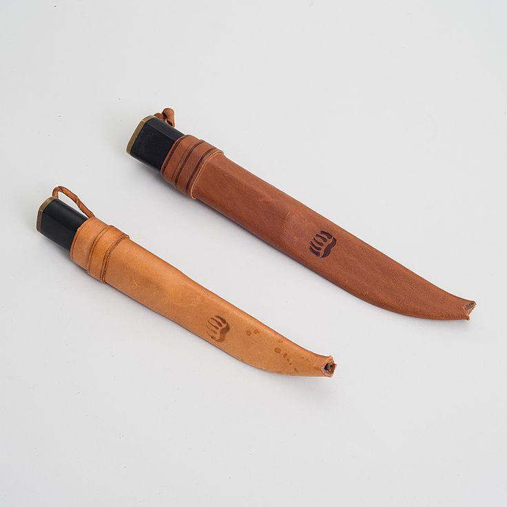 Tapio Wirkkala Two Sheath Knives Marked Hackman Finland
