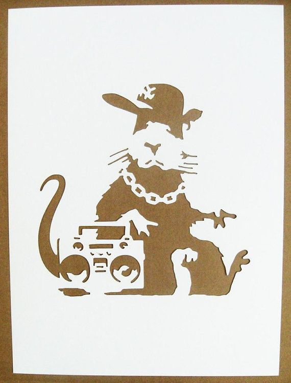 BANKSY Rats Stencils. Is it weird I want to hang out with this rat?