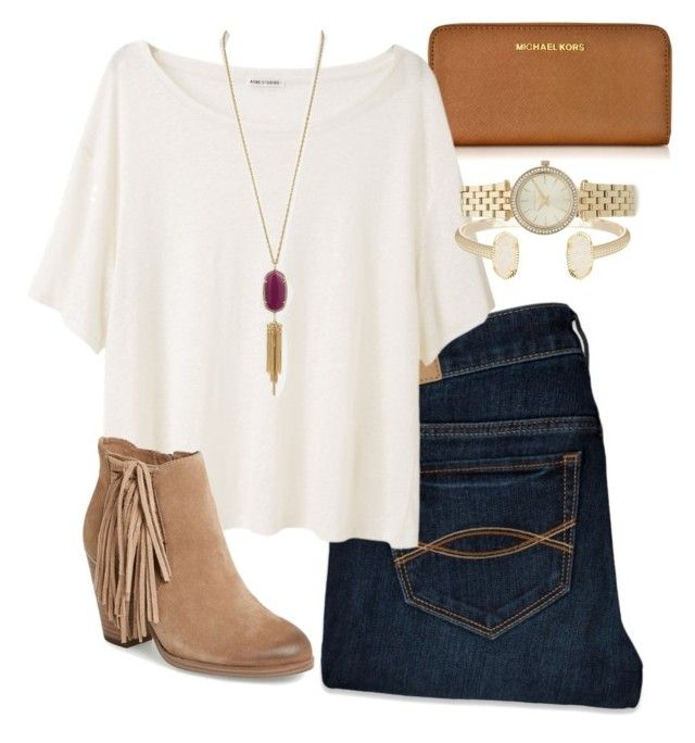 AP classes are so stressful by daniellekenz on Polyvore featuring Acne Studios, Abercrombie & Fitch, Vince Camuto, Michael Kors and Kendra Scott