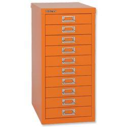 Product 103277, Description: Bisley GLO SoHo Multidrawer Cabinet 10-Drawer H590mm Orange Ref H2910NL Orange