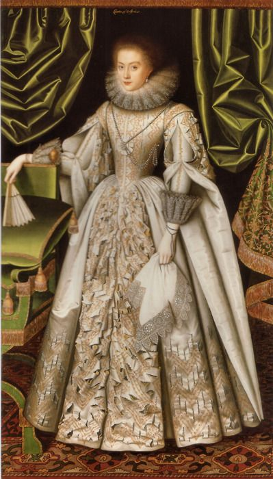 Portrait of Diana Ceceil by William Larking, 1614 England  Obviously a victim of the mysterious Slashing Bandit.: Queen Elizabeth, Lady Diana, 17Th Century, Costume, Oxfords, House, Williams Larkin, Portraits, Diana Cecil