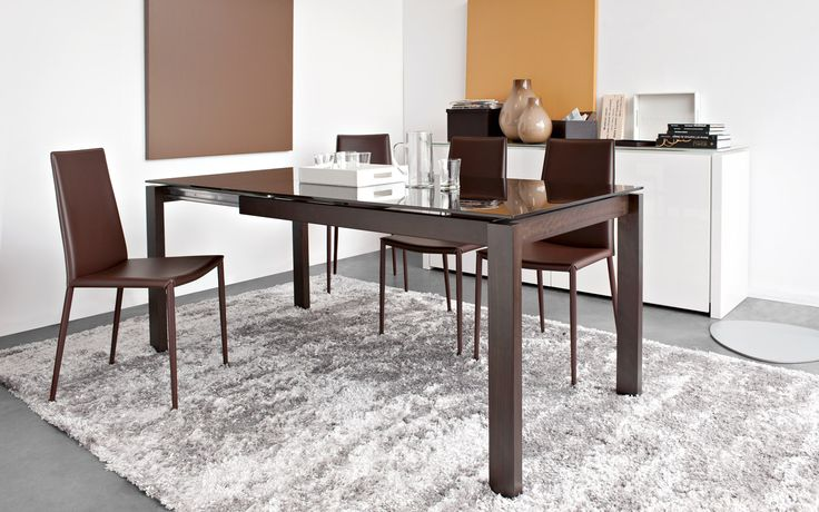 BARON drop-leaf table in wood - Calligaris CS/4010-LV 130