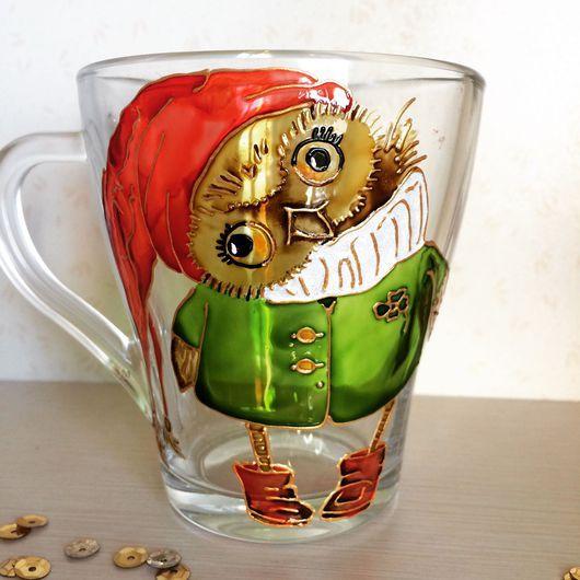 Кружки и чашки ручной работы. Ярмарка Мастеров - ручная работа. Купить Стеклянная кружка с ручной росписью по иллюстрации Инги Пальцер и др. Handmade.