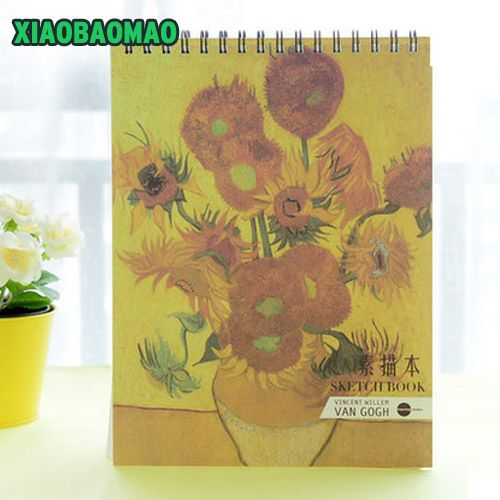 50 pages cute A4 Sketch Book Stationery Notepad Sketchbook For Painting Drawing Diary Journal Creative Notebook Gift