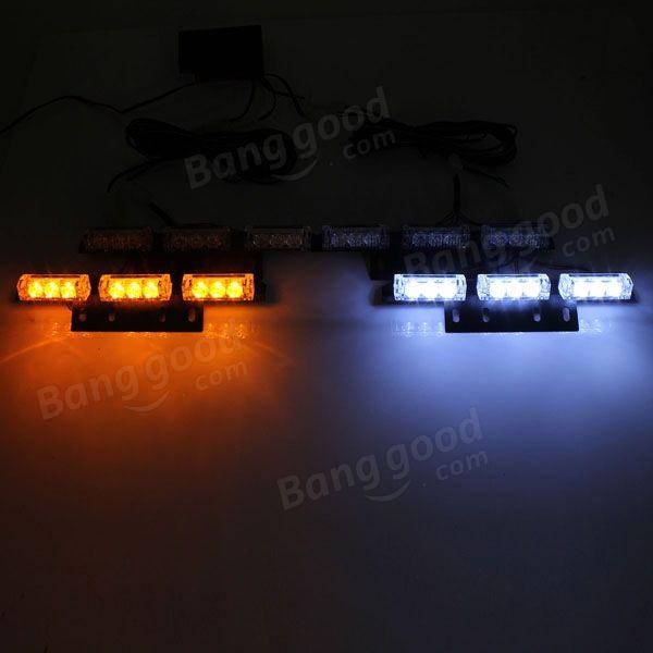 36 LED Bulb Amber White Car Pickup Warning Flash Emergency Strobe Light Sale - Banggood.com