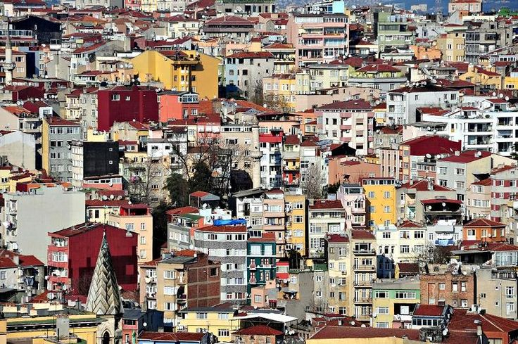 Turkey - The Istanbul inner city suburb of Karakoy seen from the Galata Tower. #istanbul #karakoy