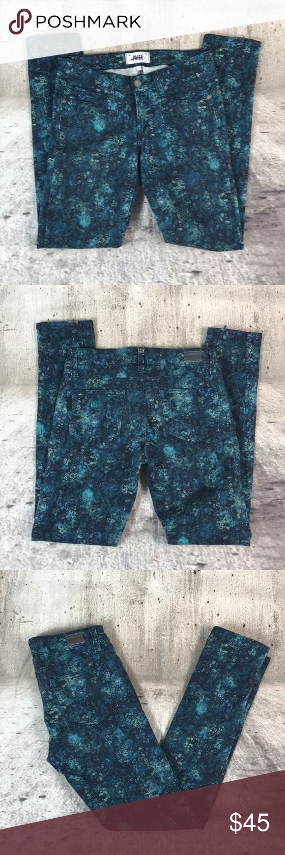 """Paige skyline ankle peg jeans Paige skyline ankle peg jeans cotton and spandex blend inseam 29"""" rise 7.5"""" Anthropologie Jeans Skinny"""