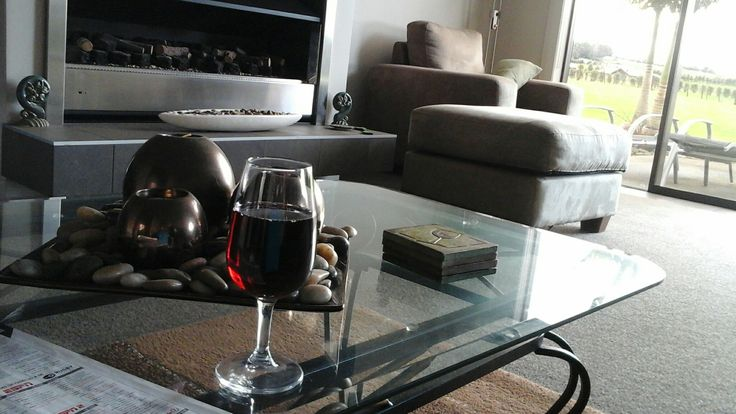 Wine o'clock at the lodge,  great way to unwind in paradise