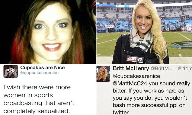 Britt McHenry lashed out at tweeter who said TV sexualizes women #DailyMail | See this & more at: http://twodaysnewstand.weebly.com/mail-onlinecom