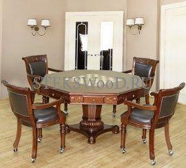 Покерный стол на восемь игроков.