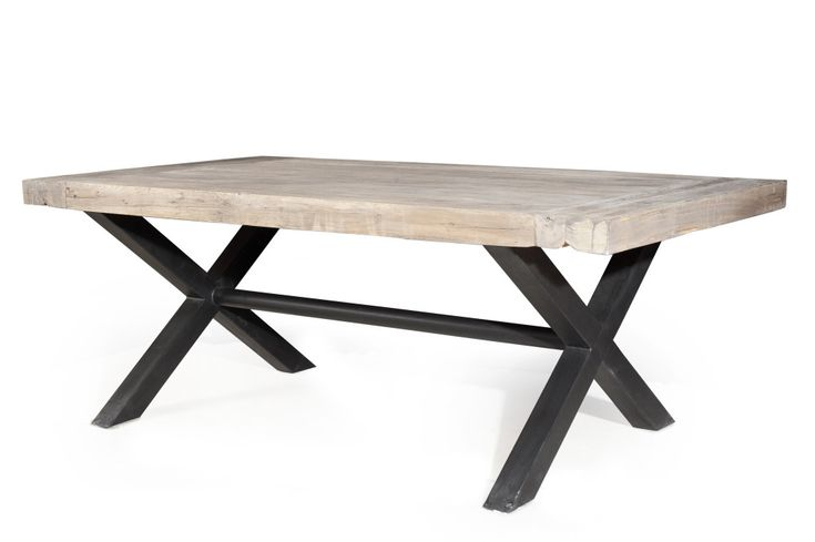 17 best ideas about table bois et fer on pinterest brut for Table bois pied fer forge