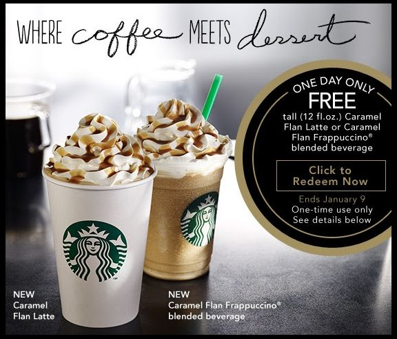 star bucks 2014 | Heads Up! Search your Email for this awesome Starbucks Coupon for a ...